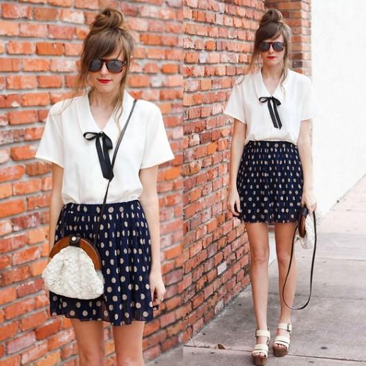polka dots skirt